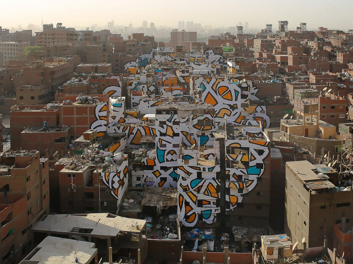 You Have To See How One Artist Turned a Complete Neighborhood Into a Single Piece of Art!